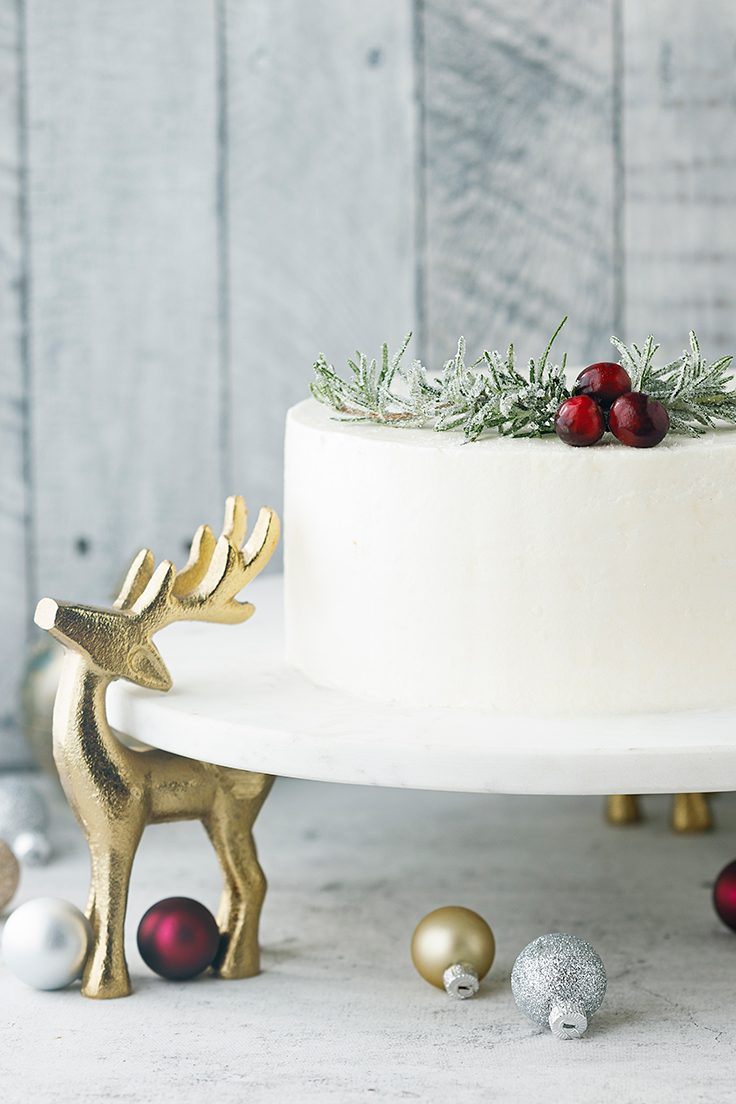 Amoretti Cranberry Layer Cake Recipe