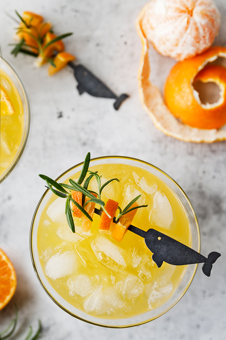 Amoretti Tangerine Gin-tini Cocktail Recipe