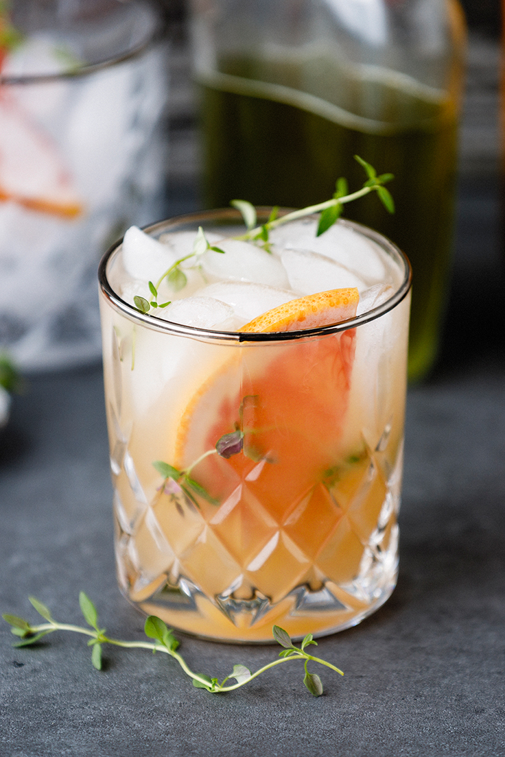 Amoretti Thyme Greyhound Cocktail Recipe