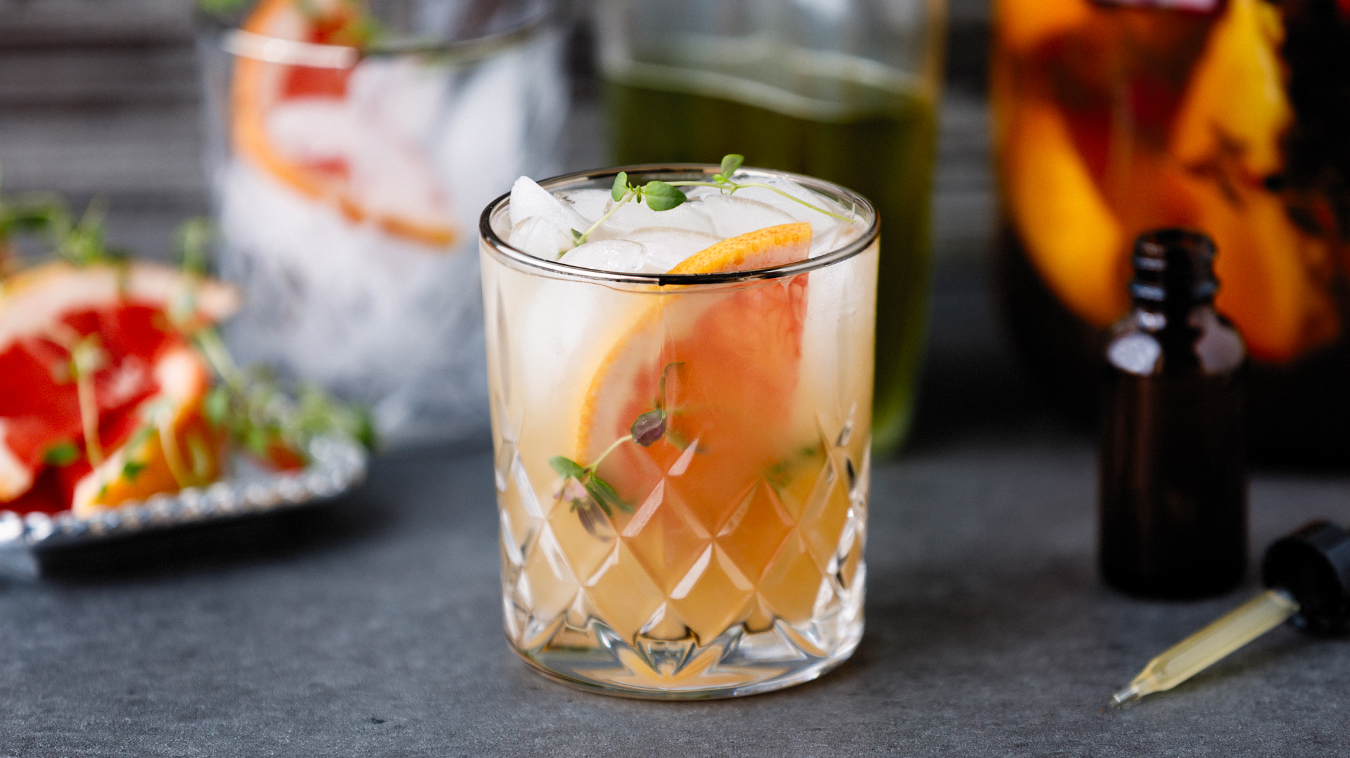Amoretti Recipe: Thyme Greyhound Cocktail