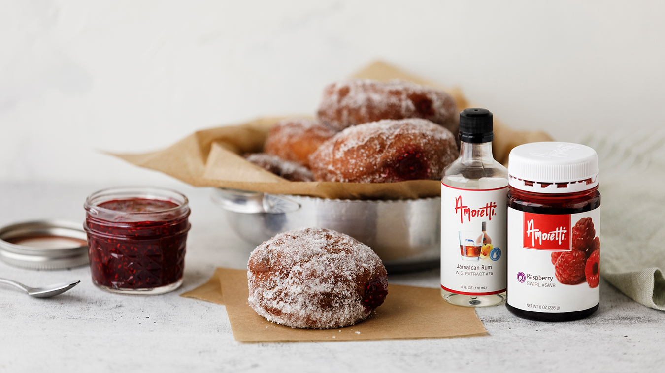 Amoretti Recipe: Polish Doughnuts (Pączki) filled with Raspberry Jam