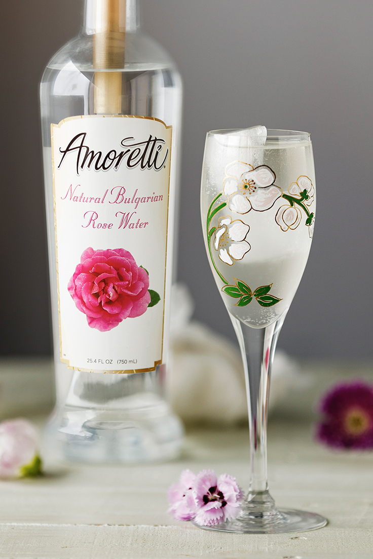 Amoretti Ginger Rose Sake Cocktail Recipe with Natural Bulgarian Rose Water