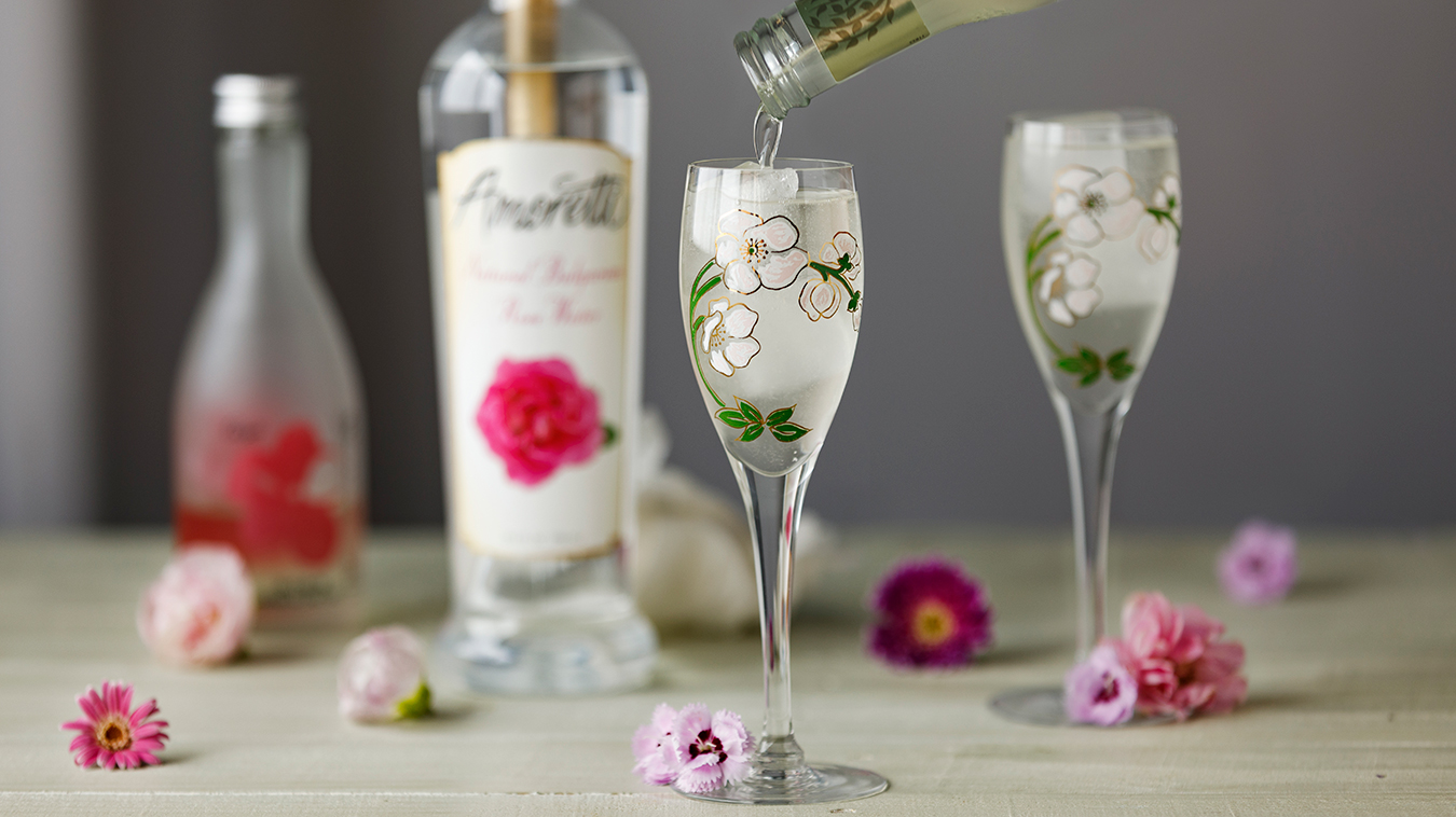 Amoretti Recipe: Ginger Rose Sake Cocktail