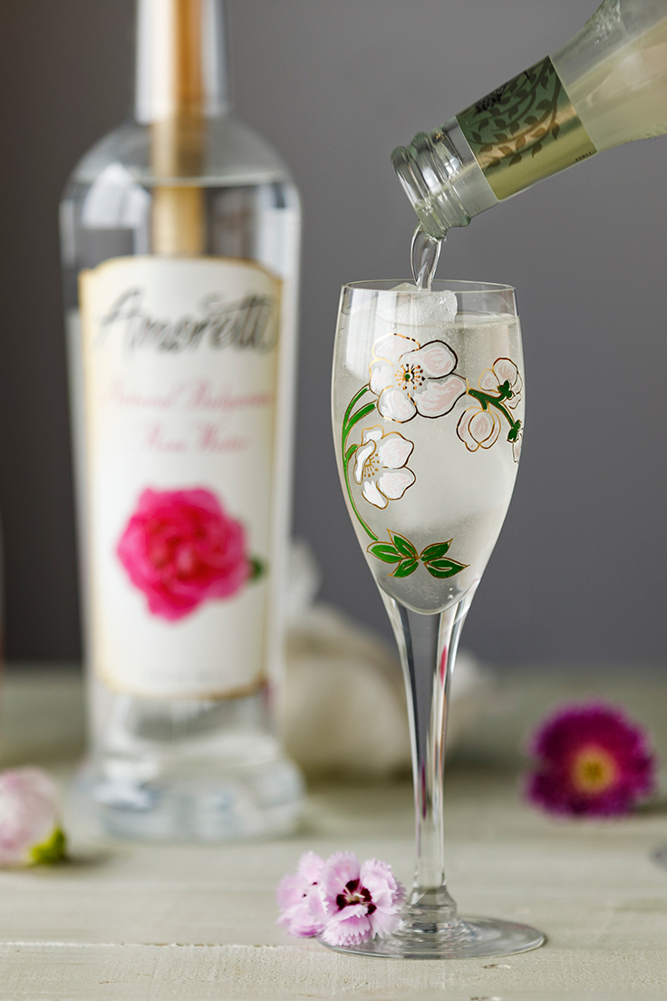 Amoretti Ginger Rose Sake Cocktail Recipe