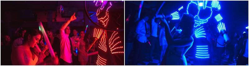 Robots LED, Matrimonio, por Ampersand Wedding Films