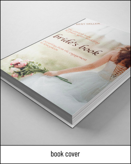 book cover wedding