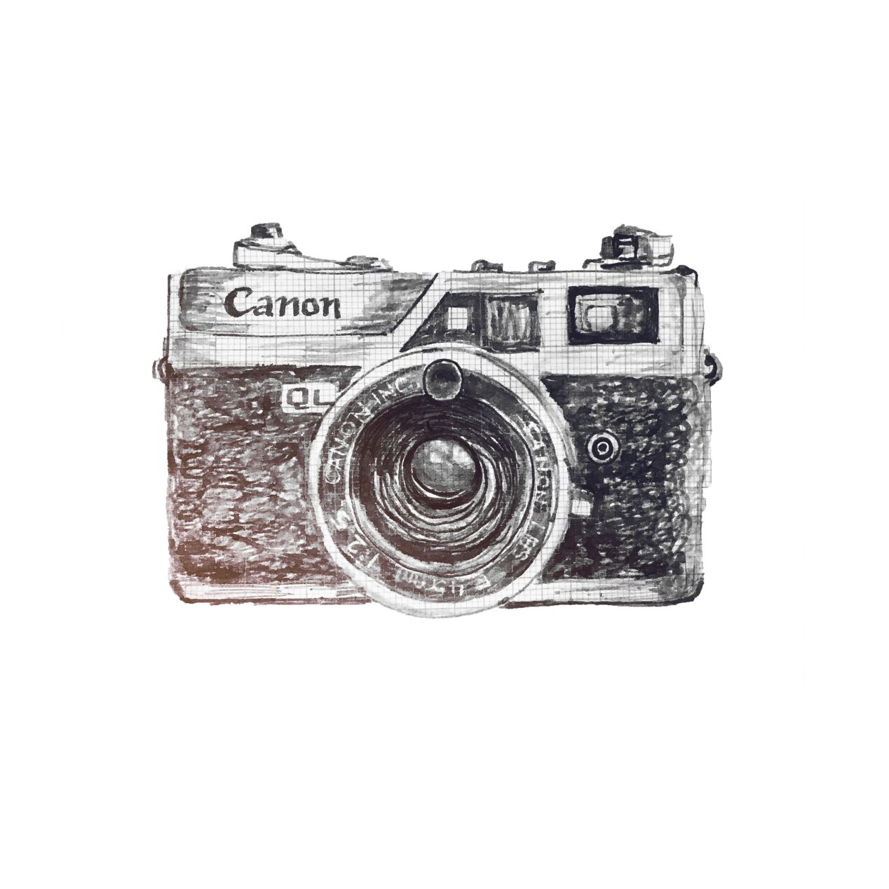 Canon Canonet QL-25 is a fixed 45mm f/2.5 lens 35mm rangefinder. Shutter priority with manual override. Launched in 1965, Japan. $.