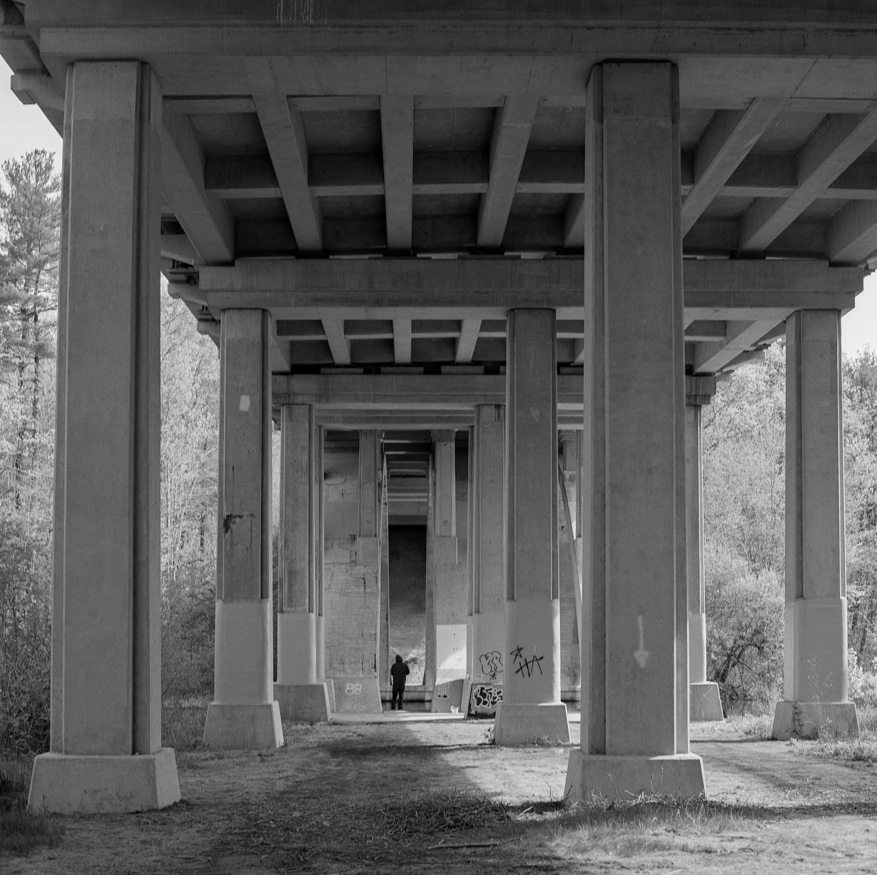 """""""Under The Bridge."""" Hasselblad 500cm, Fujifilm Neopan Acros 100."""