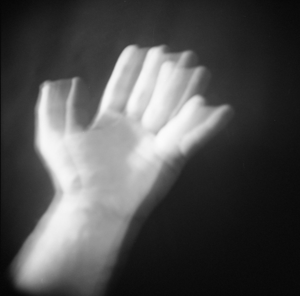 My Hand, Double exposure, ILFORD 400, Holga 120GFN