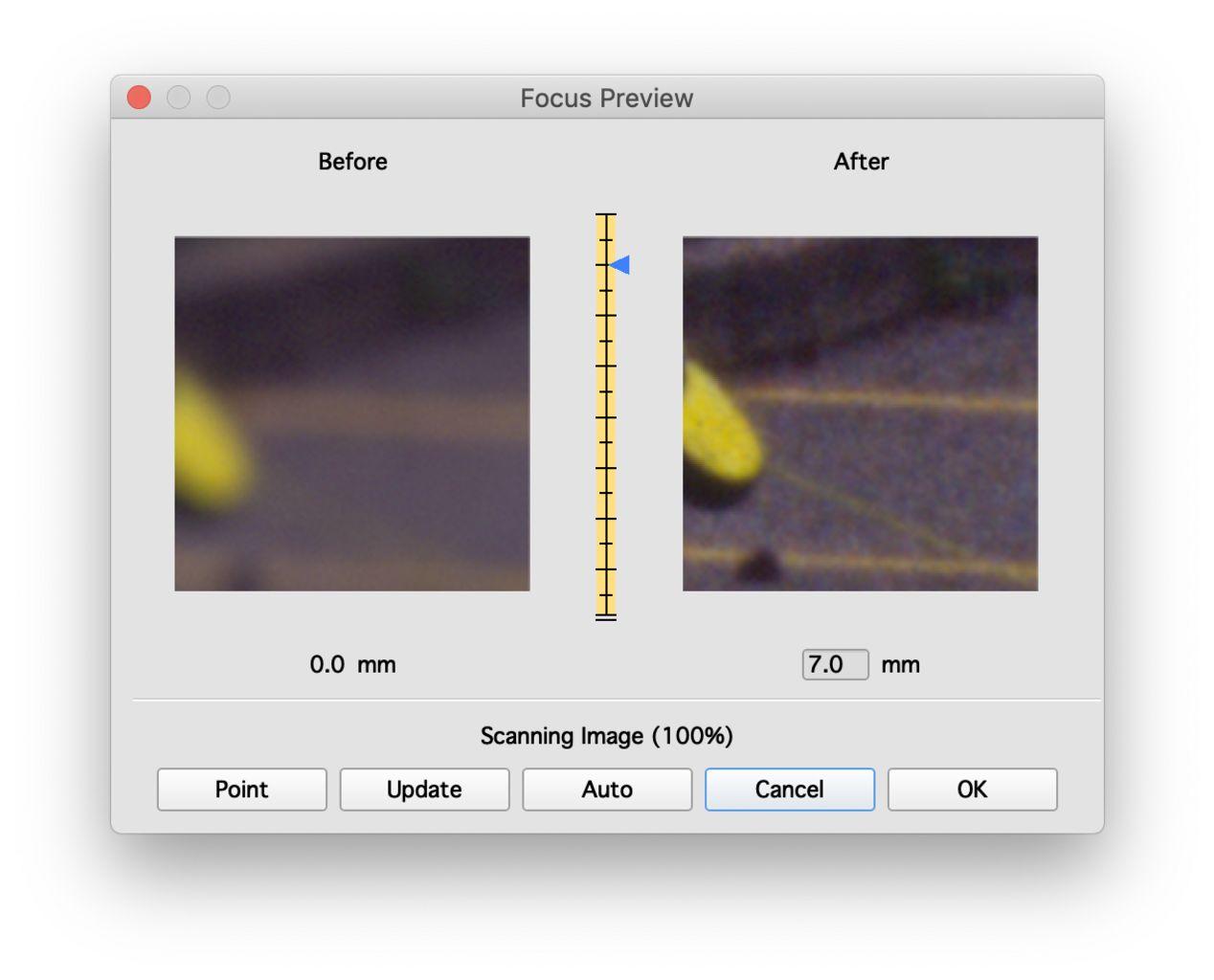 Manual focus on PrimeFilm XA with SilverFast.