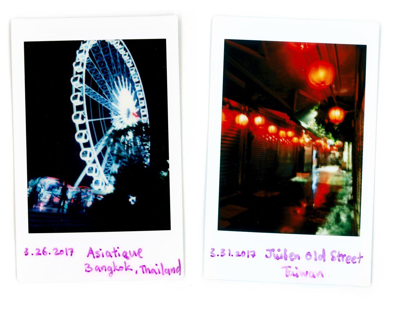 Double exposure + bulb (left). Bulb (right).