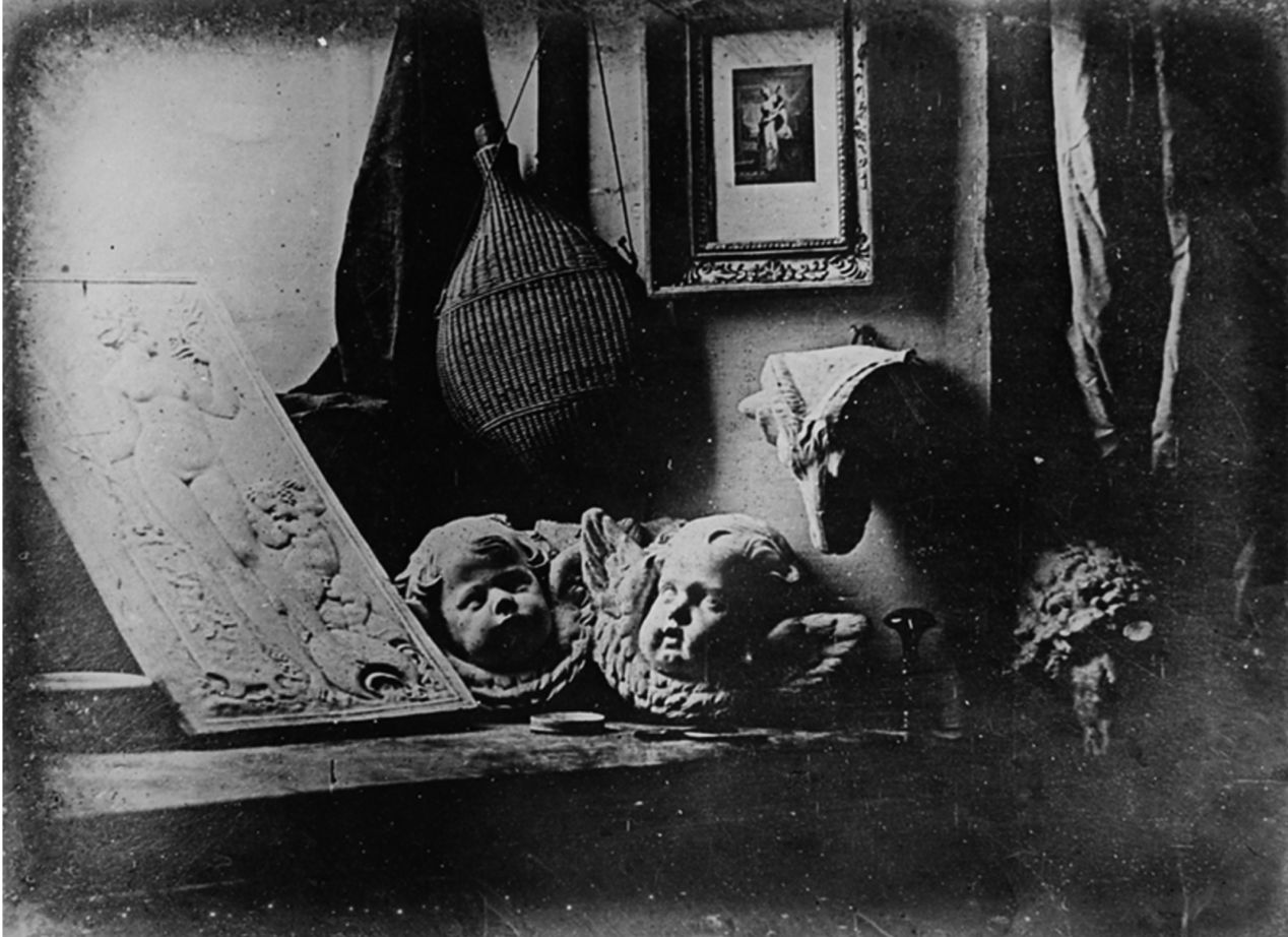 Still life with plaster casts, made by Daguerre in 1837, the earliest reliably dated daguerreotype — Wikipedia.