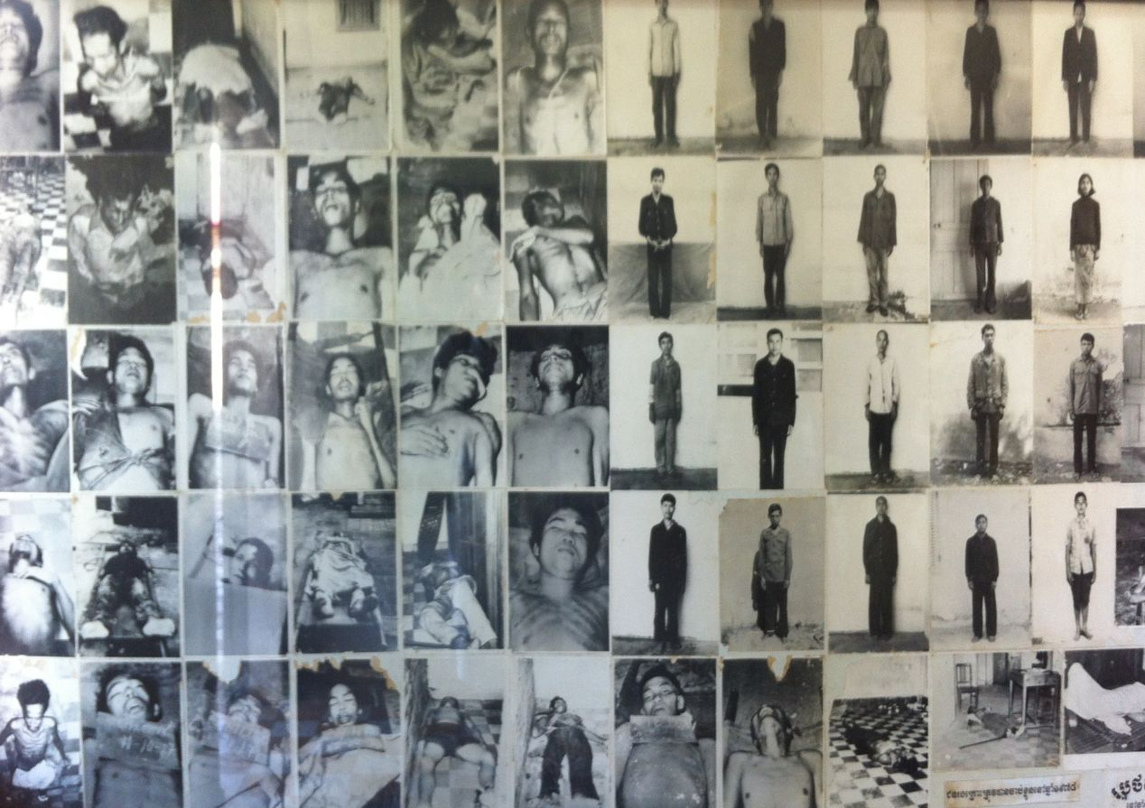 A gallery at Tuol Sleng prison; S-21.