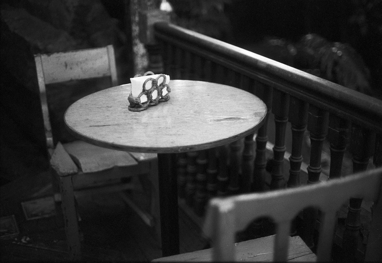 Even in Crowds, There is Solitude. Canon A1, Fomapan 400.
