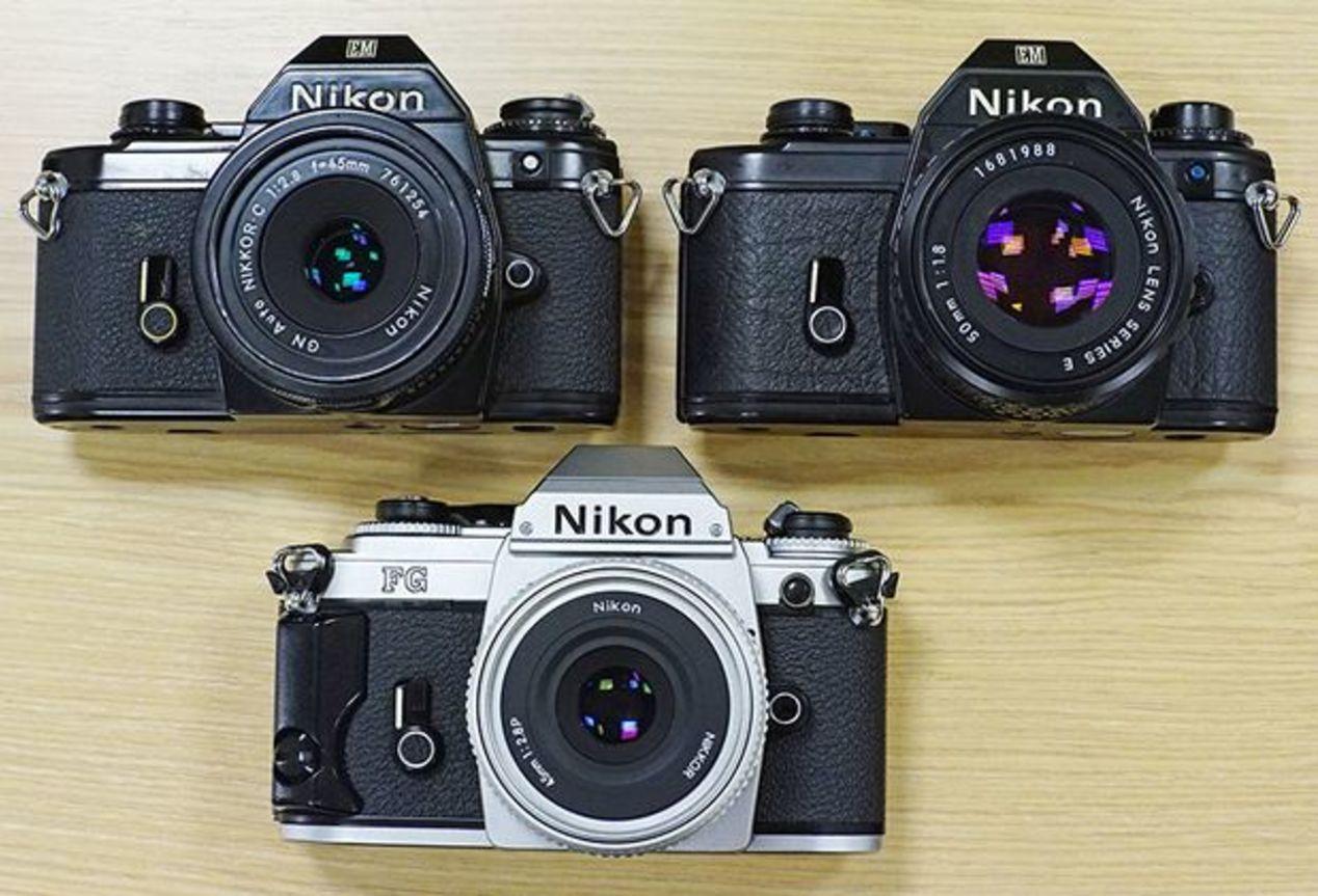 Nikon EM ~$50 and Nikon FG ~$100.