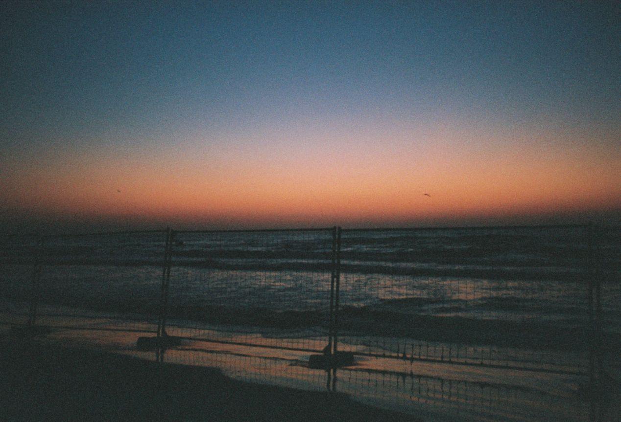 Black Sea at Dusk, Mamaia, Romania. Fujifilm Superia 400.