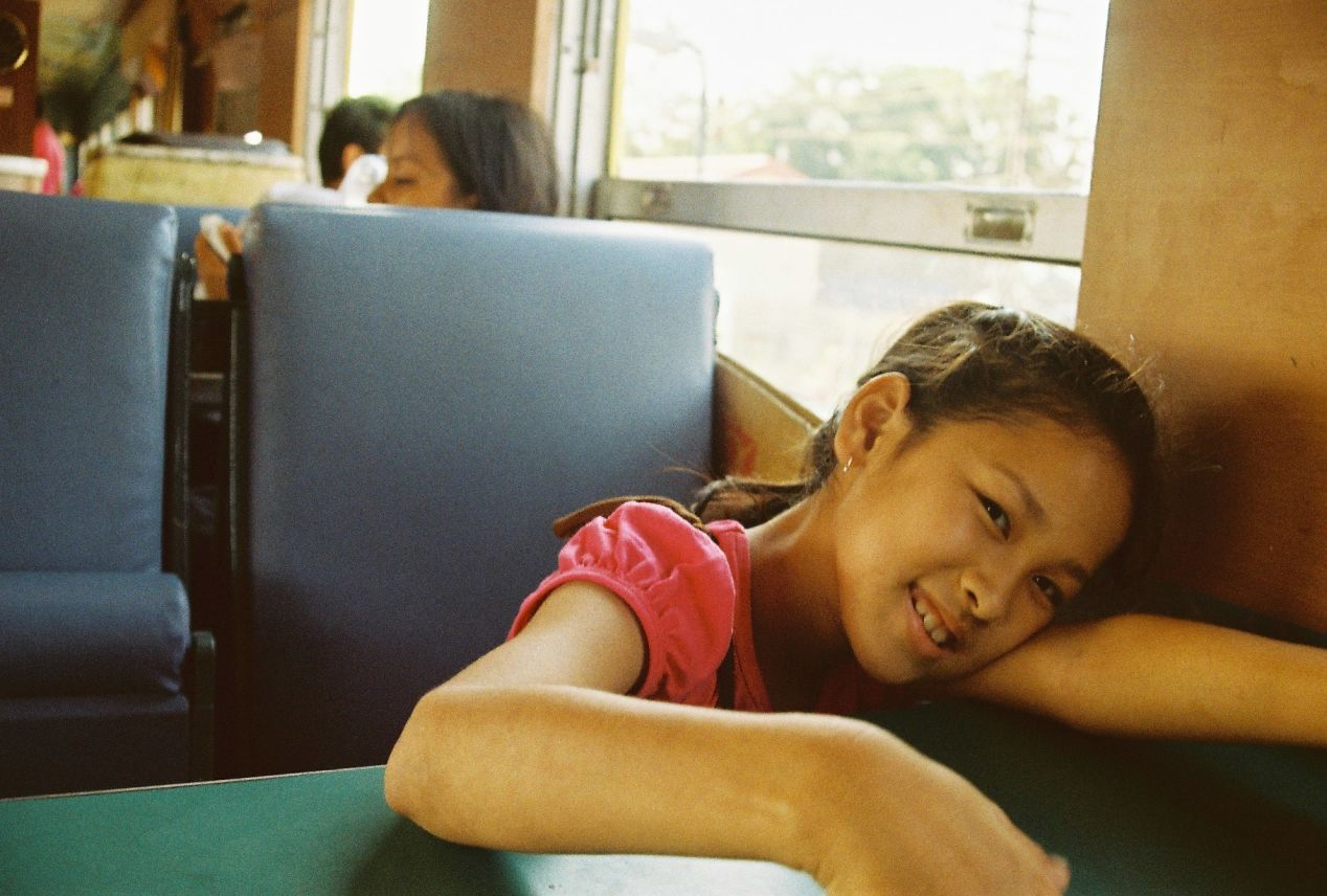 A cute little girl. Shot with Yashica FX3 Super 2000 on Kodak Color Plus 200.