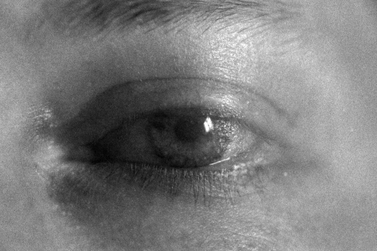 """""""Fuzzy Eyes"""" (2020) — double-exposure, shot with Ilford Delta 3200, Nikon F100, and 55mm macro lens."""