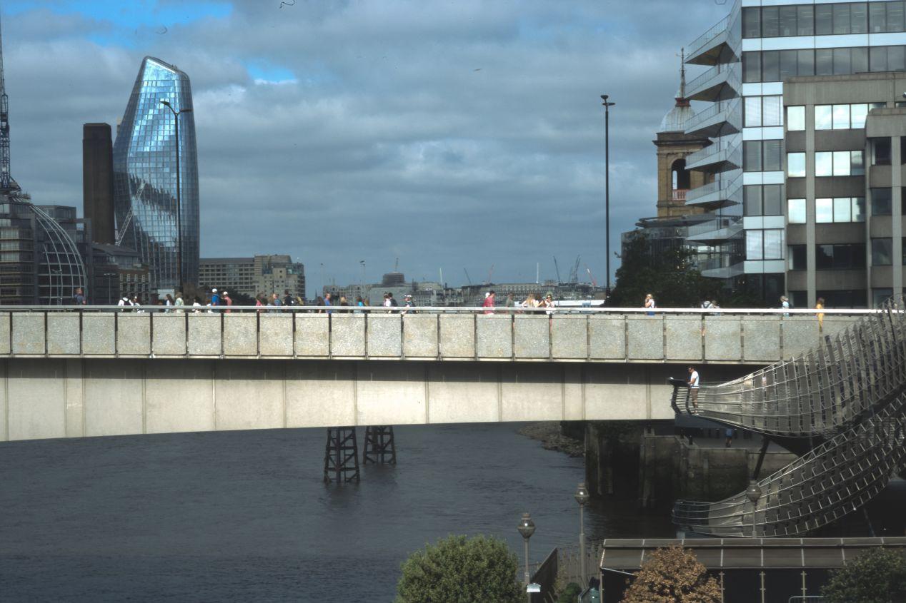 London Bridge, as seen from the terrace. 180/5.6 Fujinon.