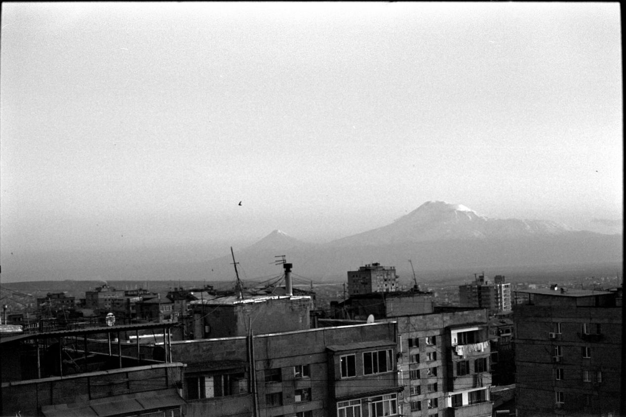 April 14, 2020. The view of the mountain Ararat from our balcony.