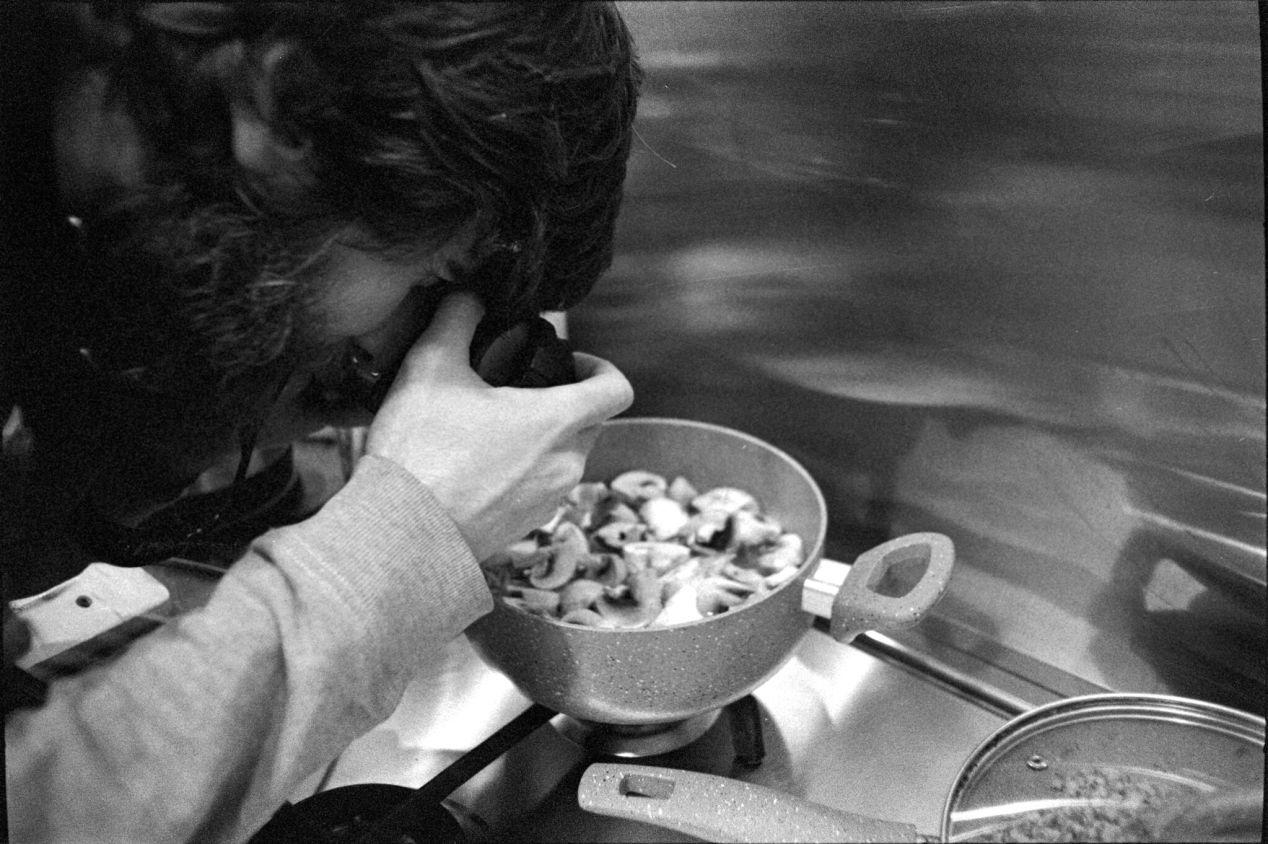 March 20, 2020. Norayr, shooting mushrooms.