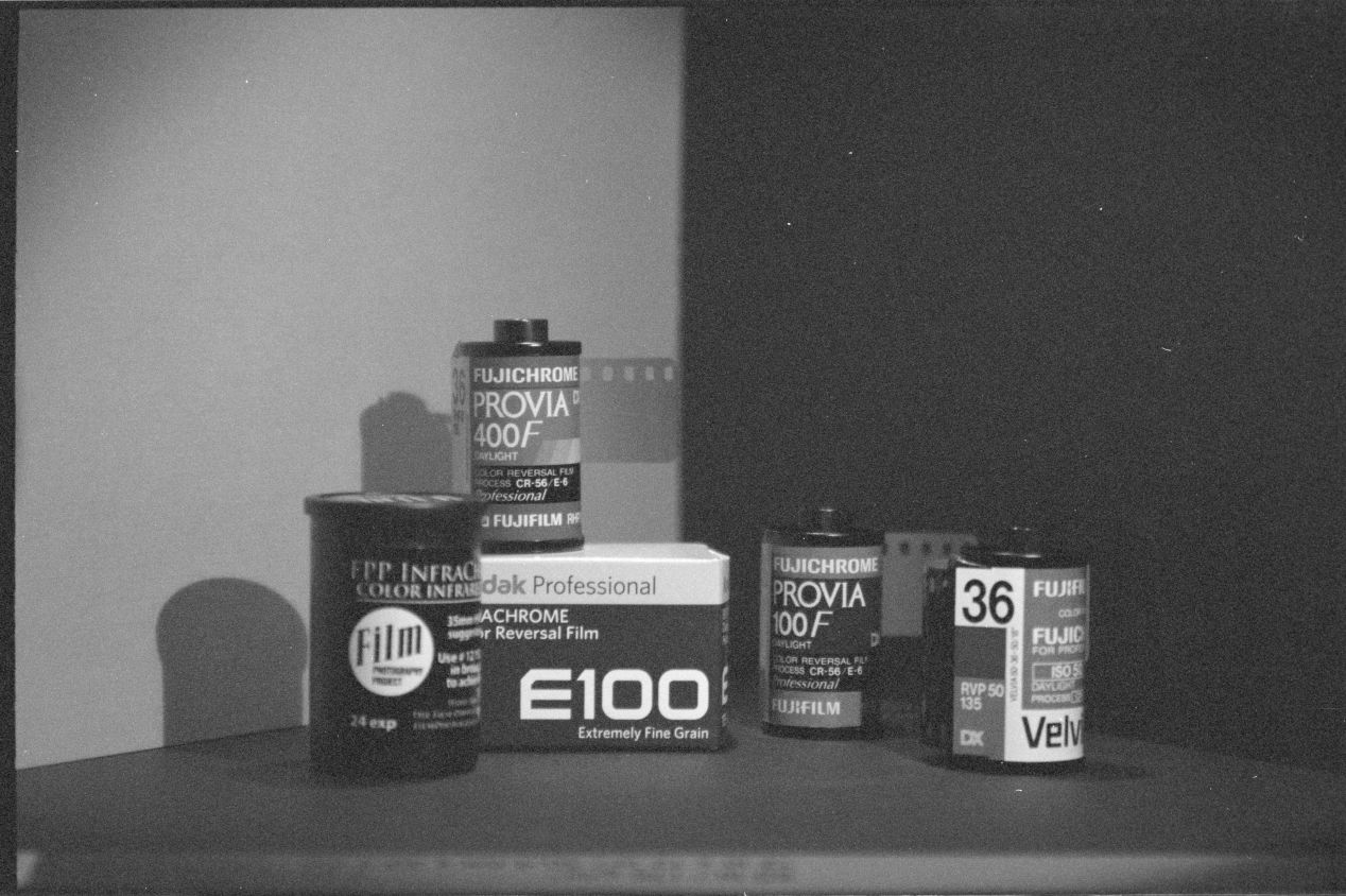 Slide film can get very expensive. One of these canisters costs over $100!