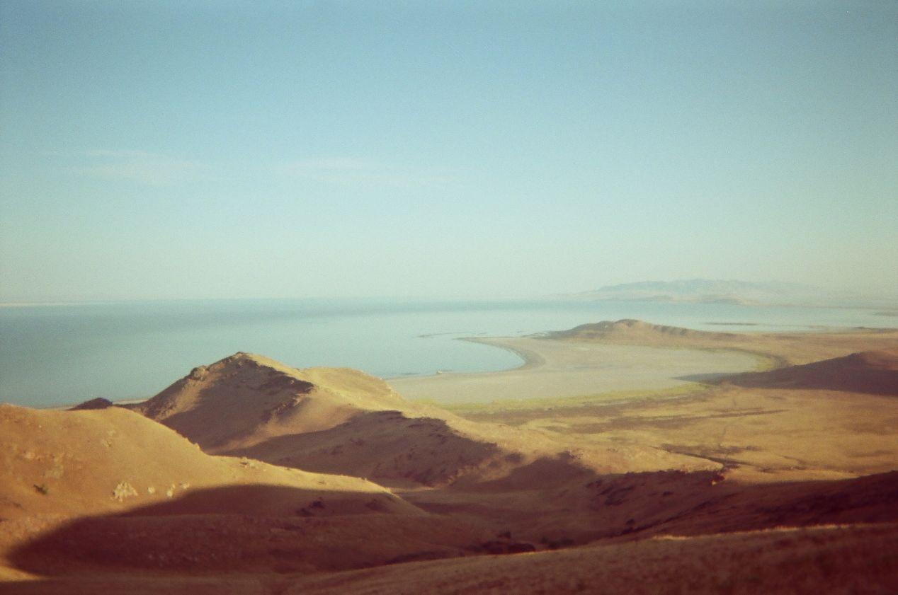 Frary Peak, Antelope Island, looking out towards White Rock Bay.