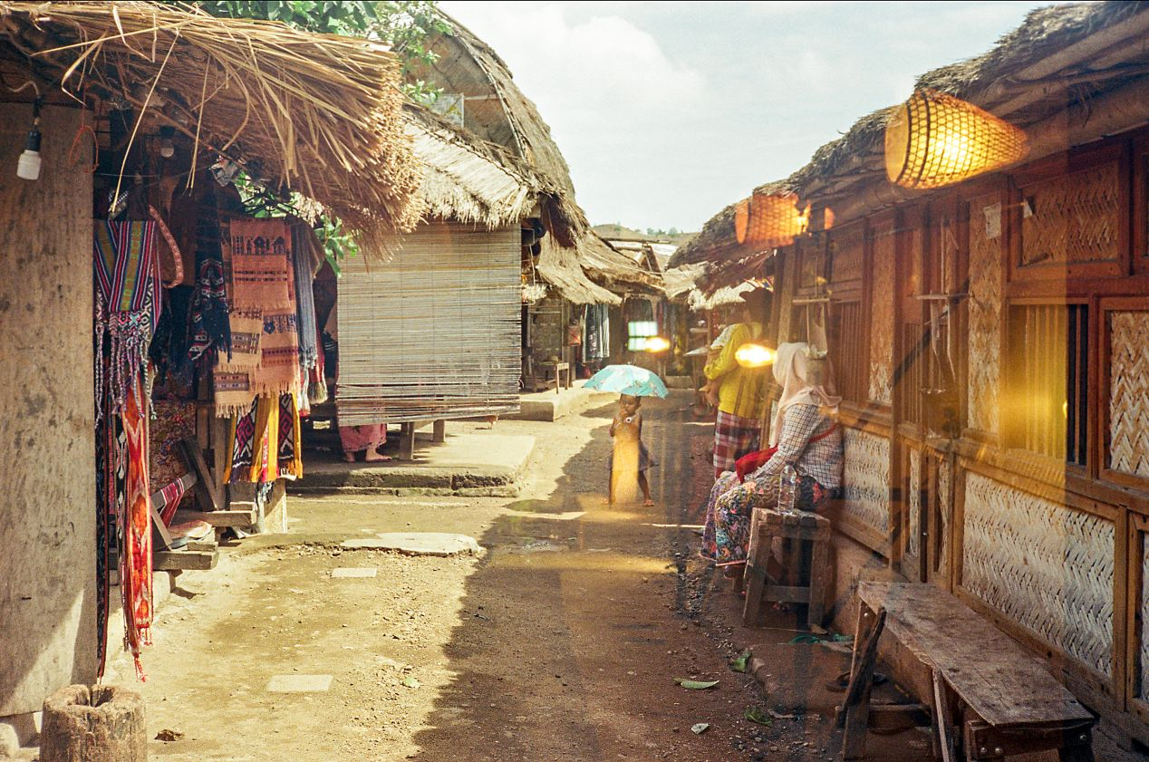 The alley in Sade Village. Captured on Kodak UltraMax 400.