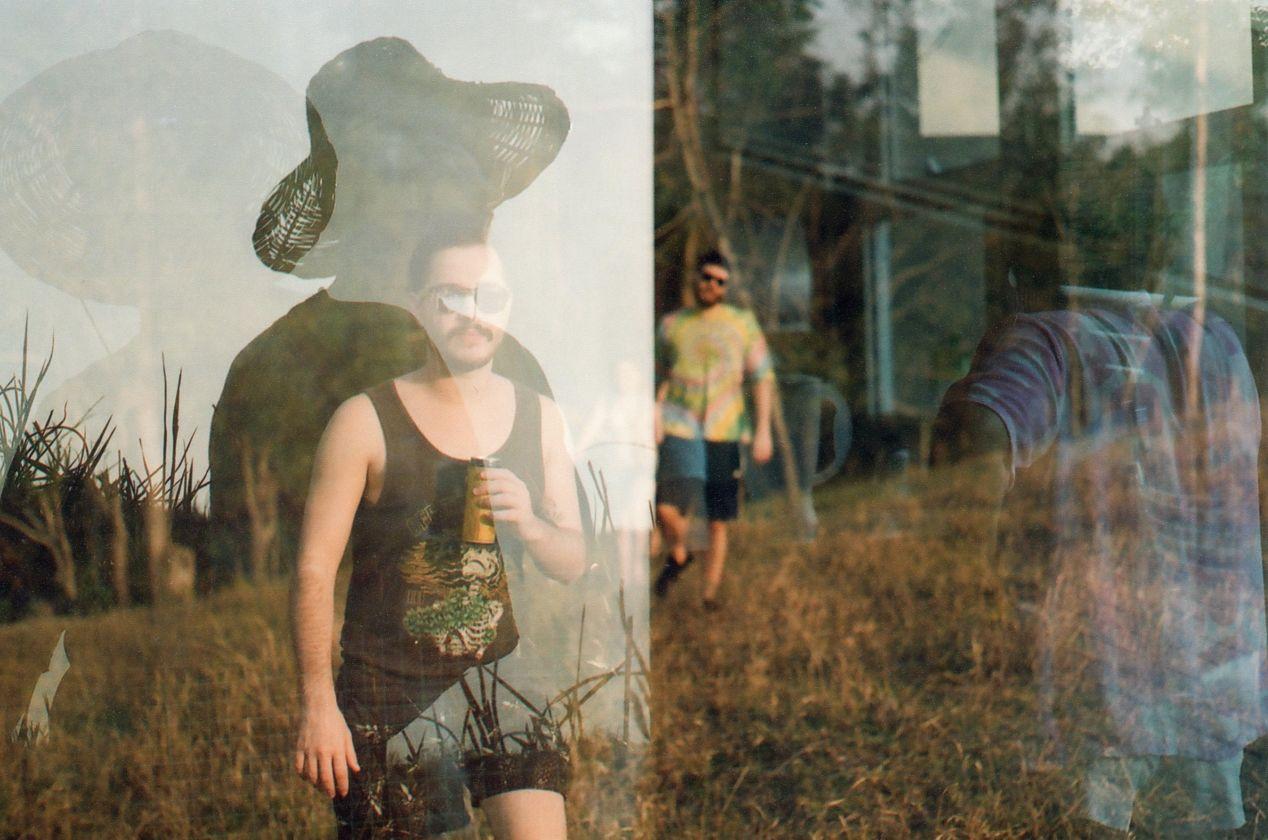 """""""Different Times & Places."""" Pentax K1000, Pentax-A 1:2 50mm lens, Kodak ColorPlus 200."""