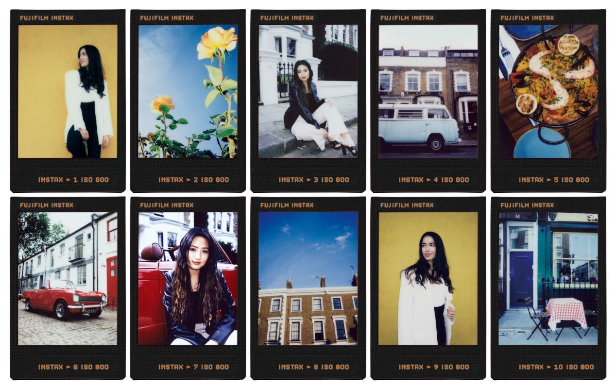 """The new Instax """"Contact Sheet"""" frames with frame numbers. Scans courtesy of Fujifilm Japan."""