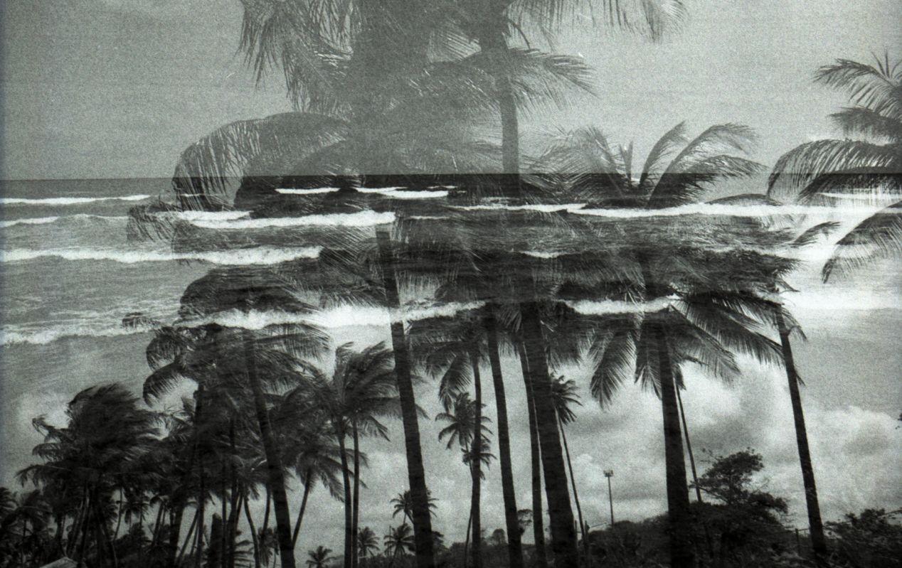 Double exposure. Mayaro beach, Trinidad.