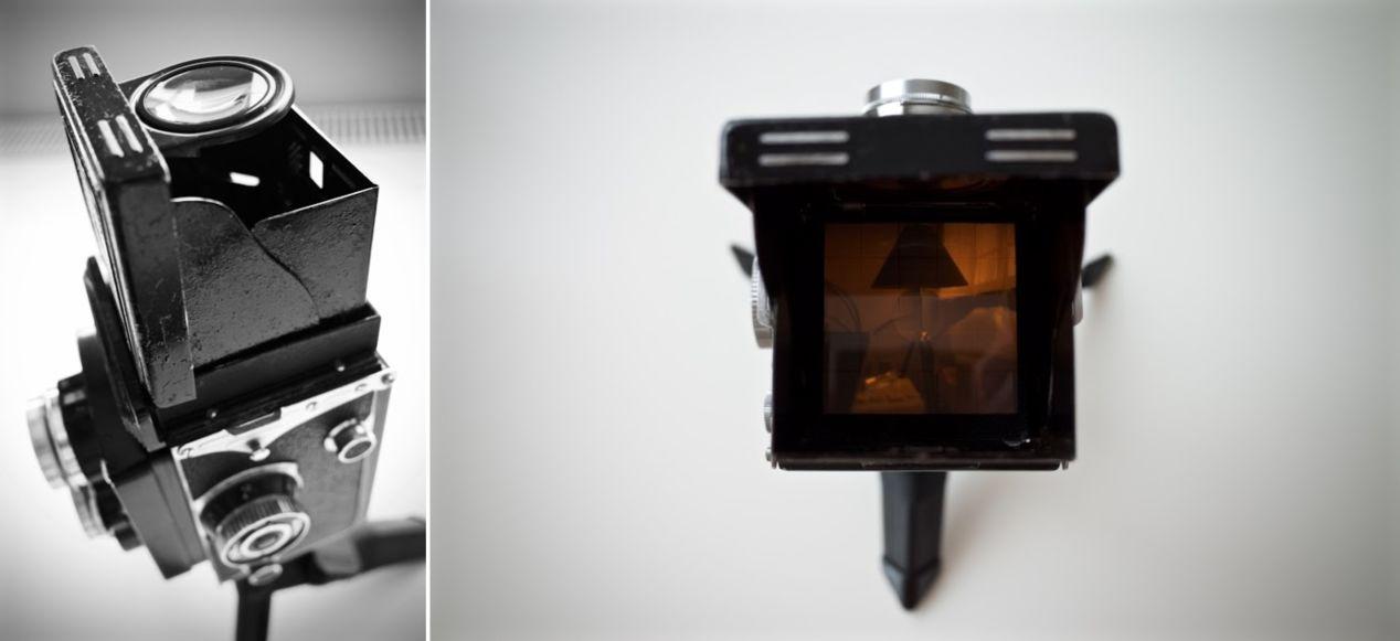 The beast, Yashica Mat twin lens reflex camera.
