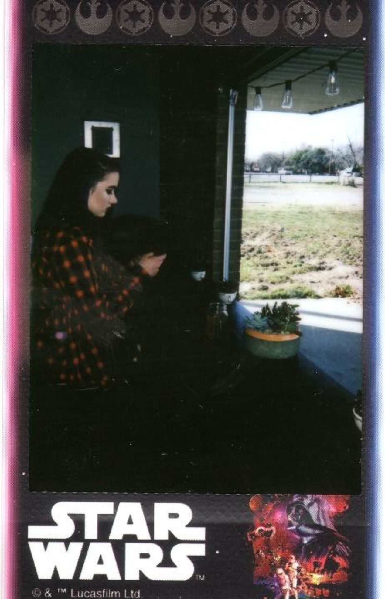 Photo of my dear friend Julie taken at Arcadia Coffee in Weatherford, TX. Shot on Instax Mini 8.