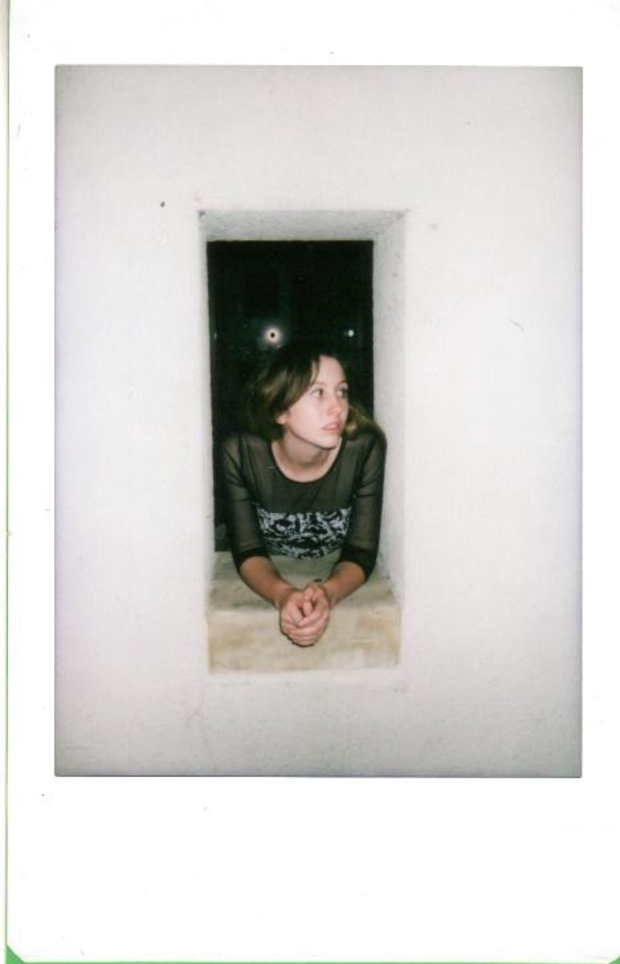 Portrait of my lovely friend Alex. Taken with Instax Mini 8.