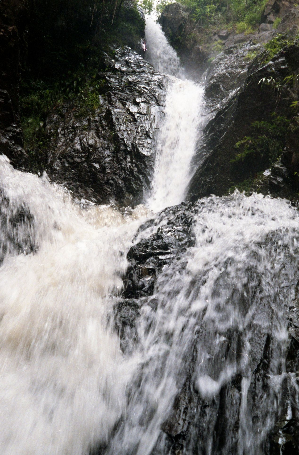 A waterfall near Pai, a three-hour ride along the windy mountain road away.