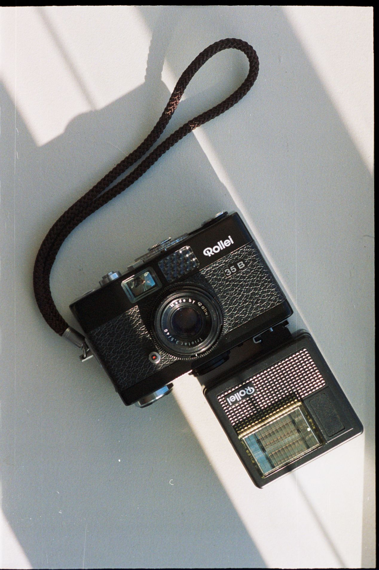 Rollei 35b with a flash.