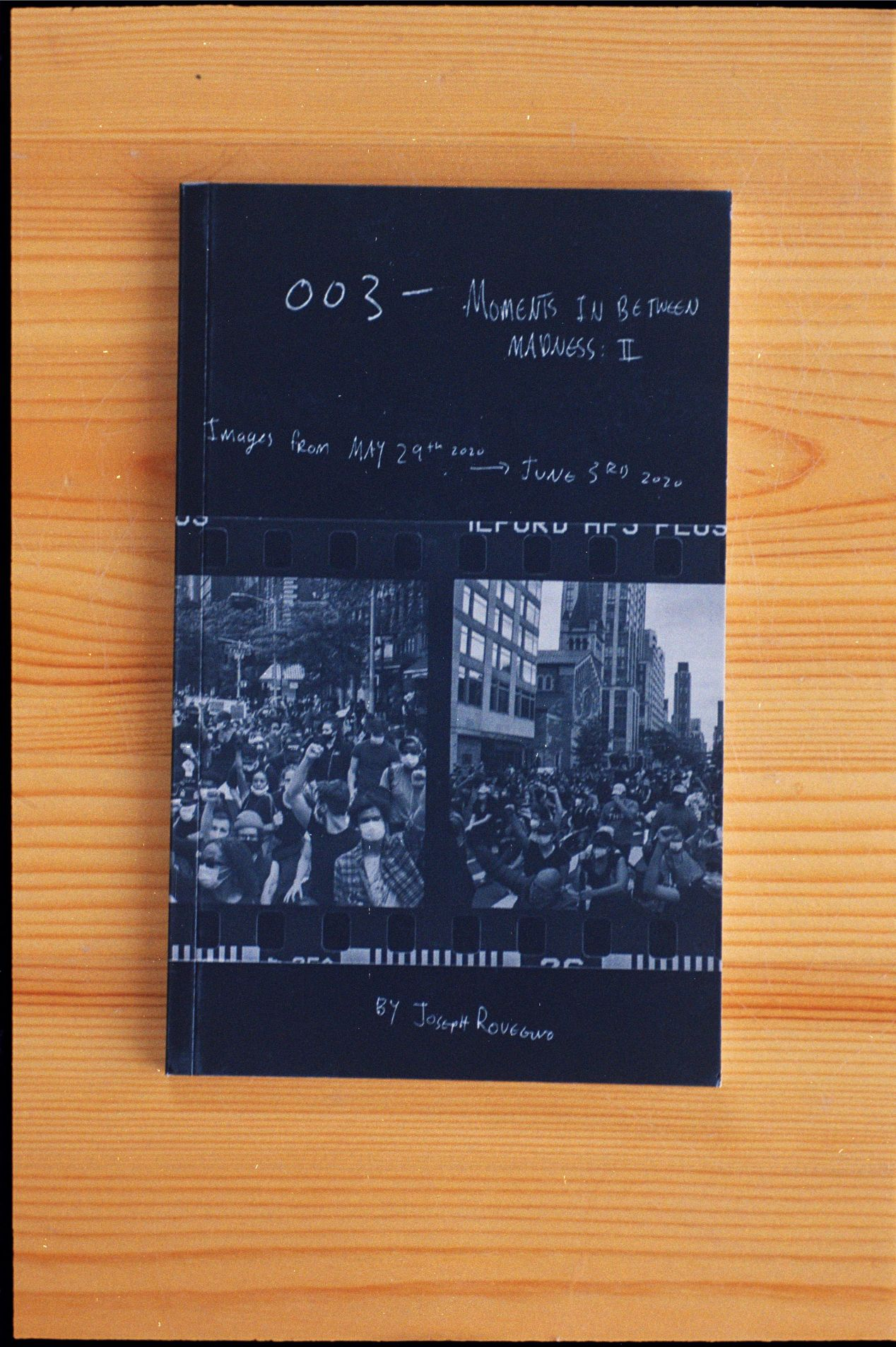 """003 — Moments In Between Madness: II. 5x8"""" 56 pages black and white, perfect bound."""