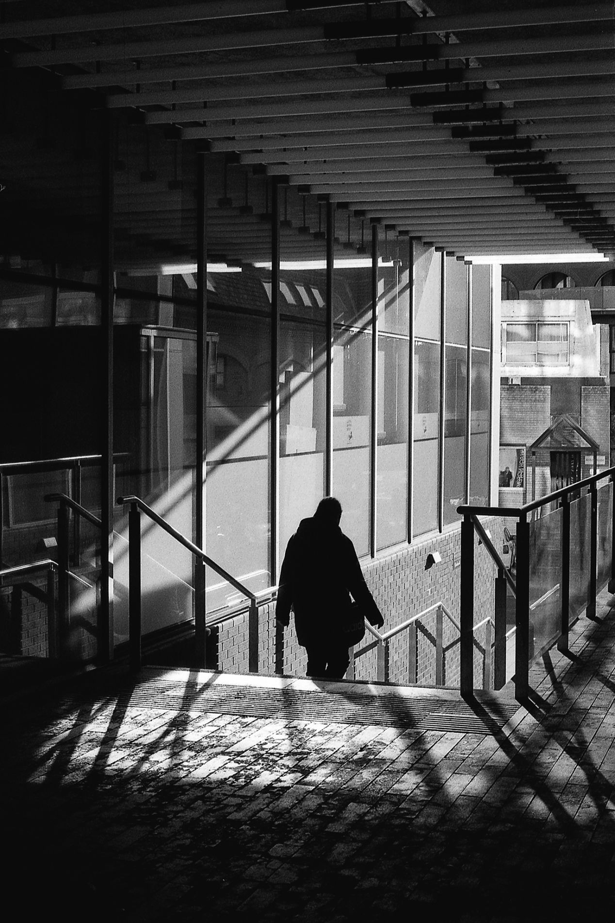 Forbury Offices. Reading, UK. Ilford Delta 400, pushed to 1600