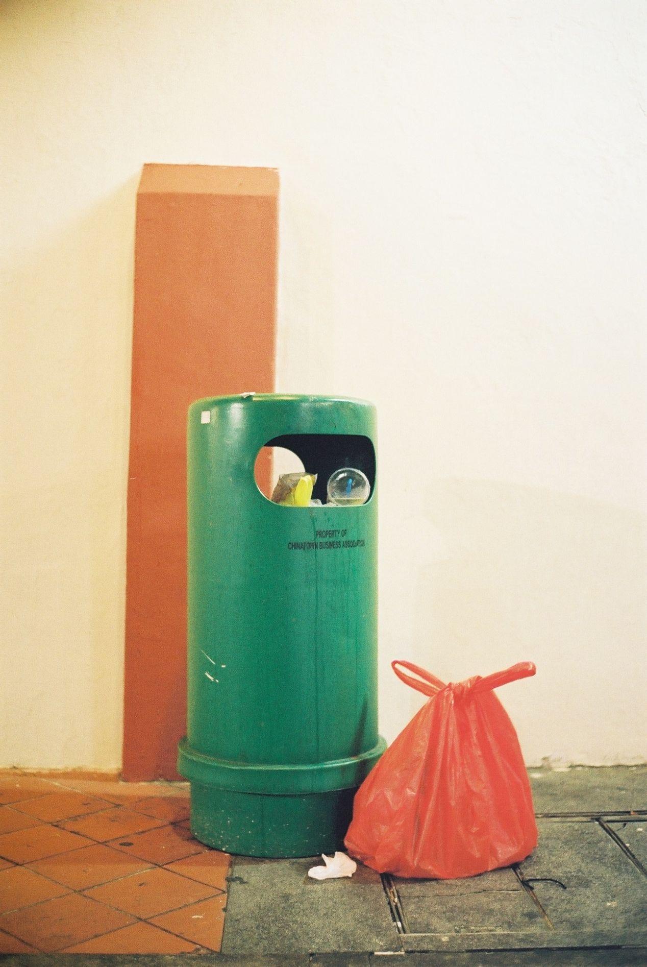 An all-purpose trash bin.