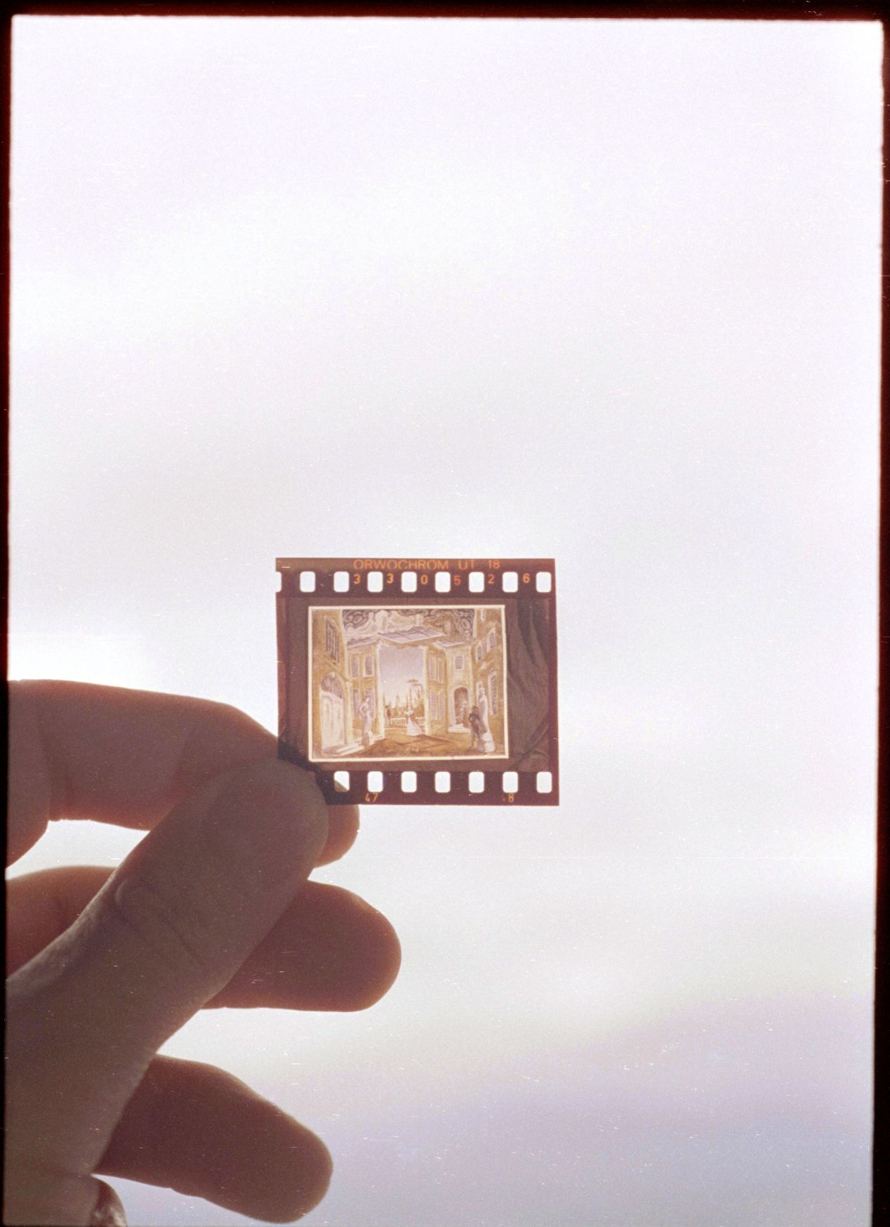 A piece of ORWOCHROM UT 18 film from old family archives.