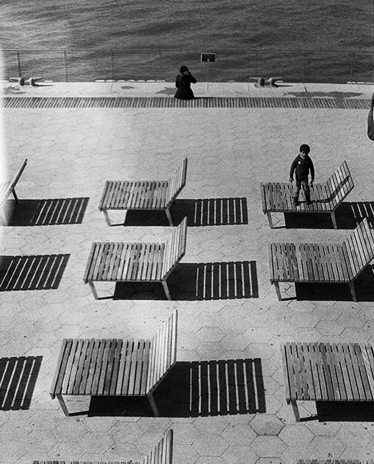 Benches. Seaside. New York. Olympus Pen FT, Kodak Tri-X.