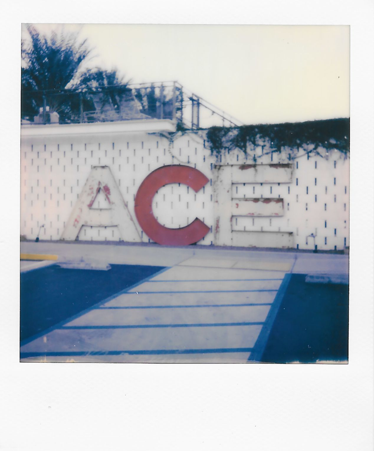 Ace Hotel in Palm Springs, California. Taken with a Polaroid 600 Camera and Polaroid Originals 600 Film