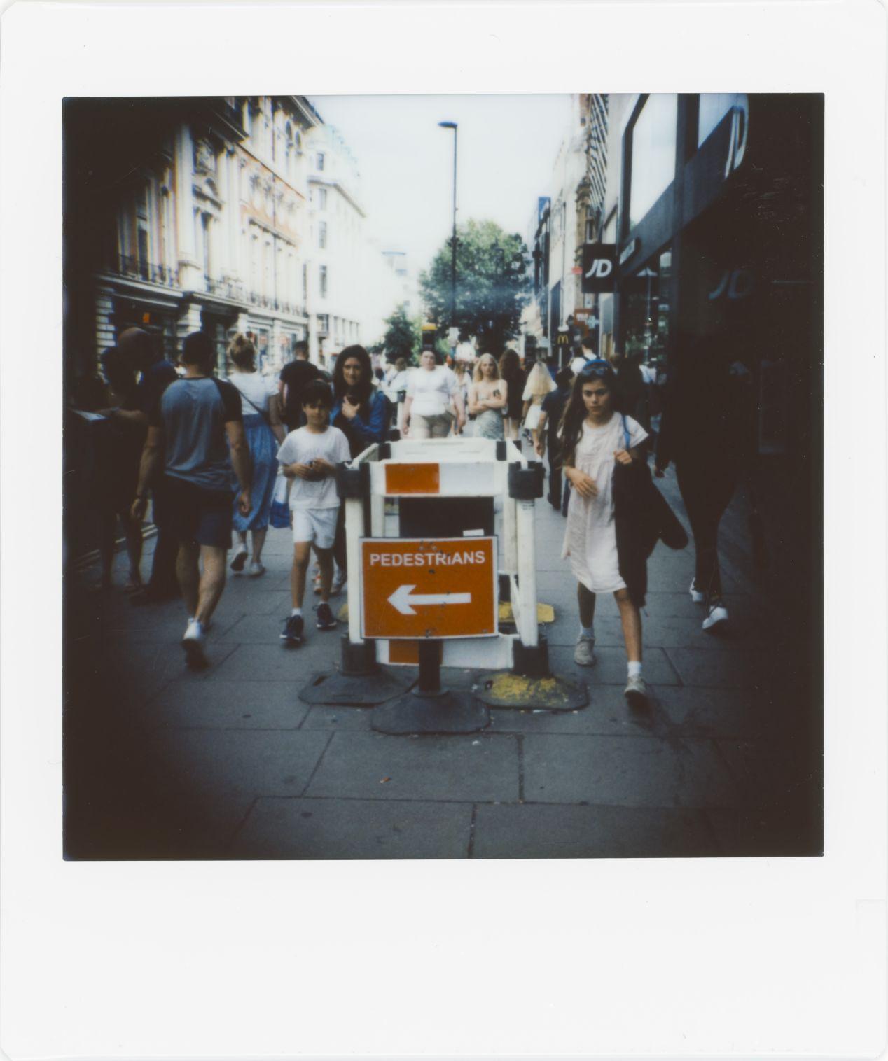 Photograph 6: side street, Oxford Circus.