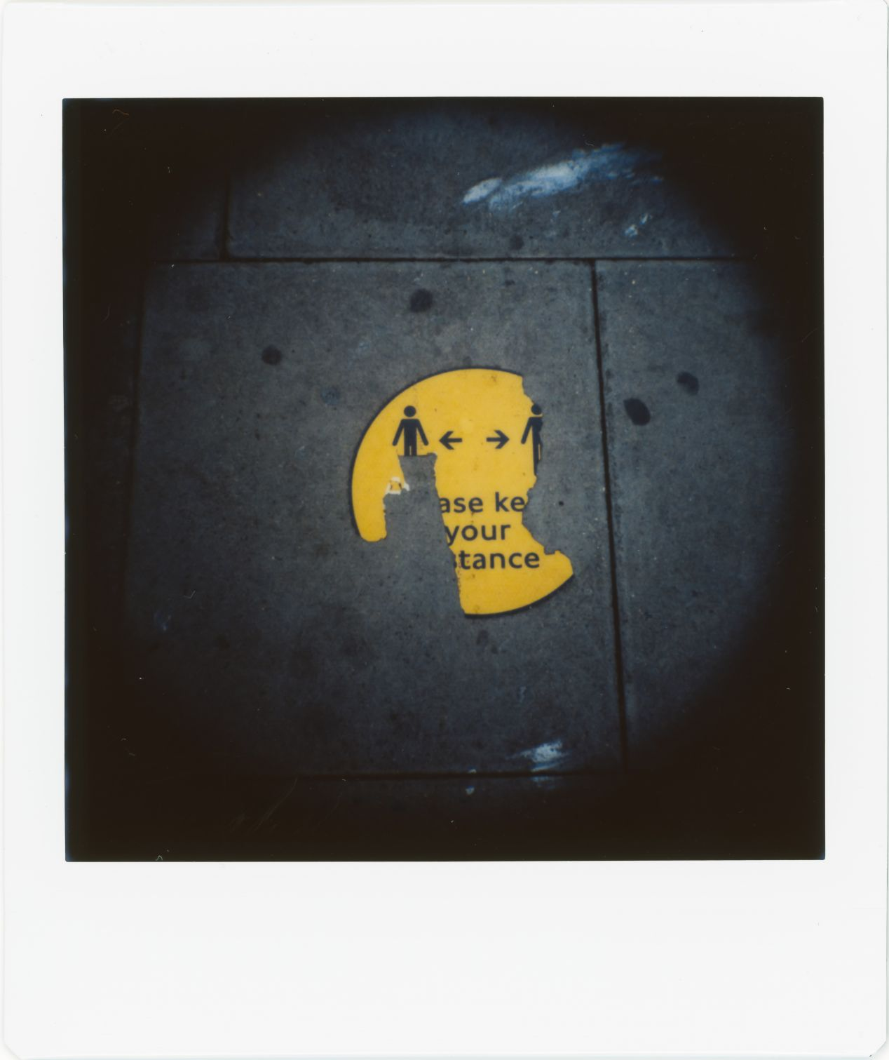 Photograph 7: North London, (no longer required) signage on the pavement exposed to the elements.