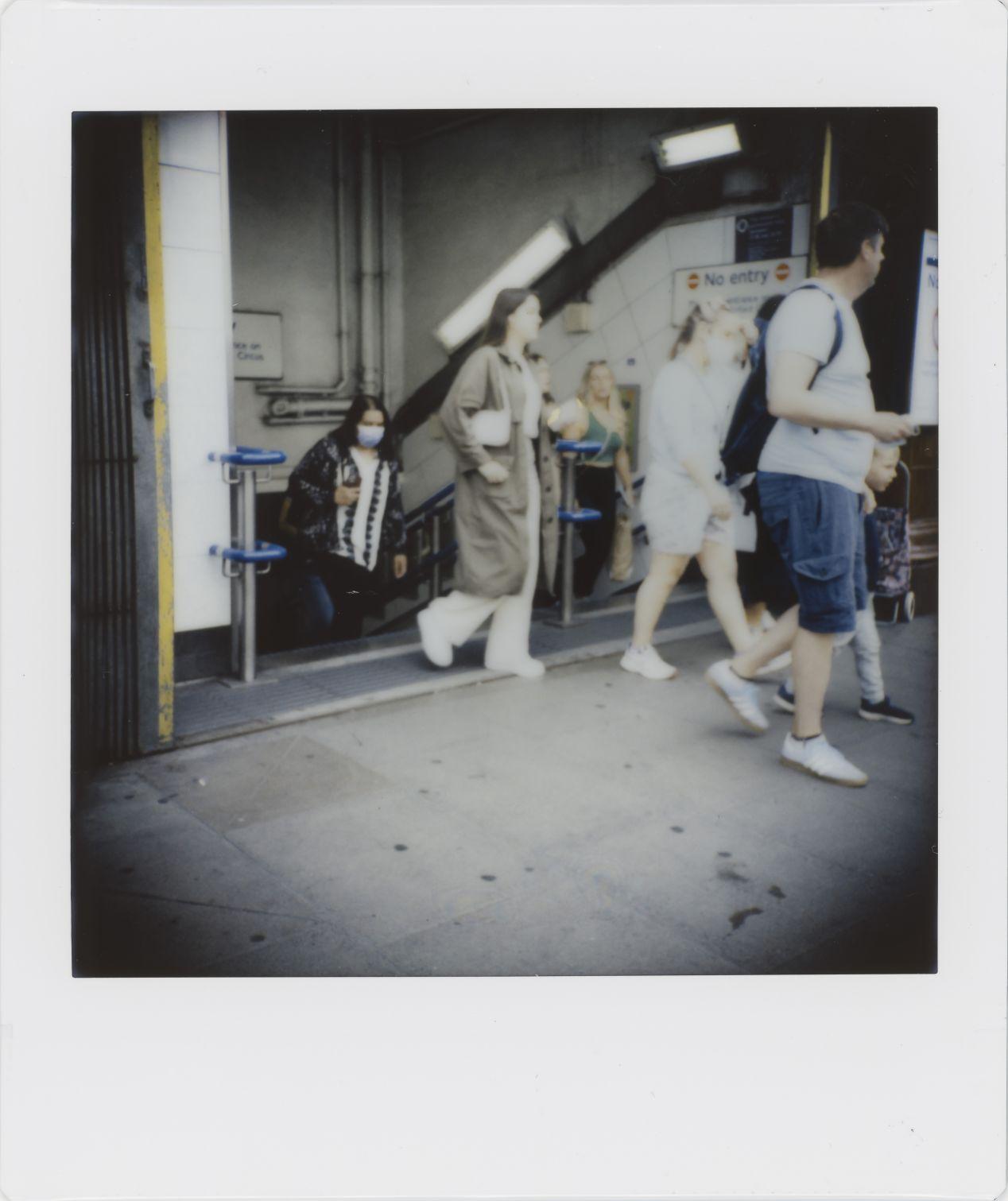 Photograph 2: Oxford Circus Underground Station, Sunday 1st. August 2021.