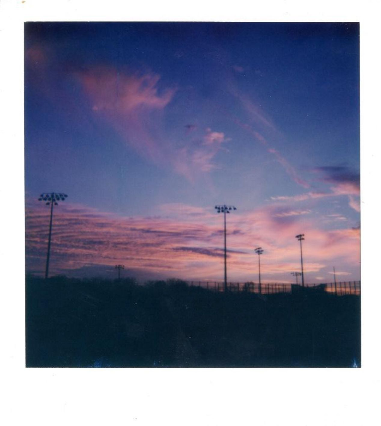 Photo taken at a local park, where I received several strange looks and a few questions about my Polaroid 600.