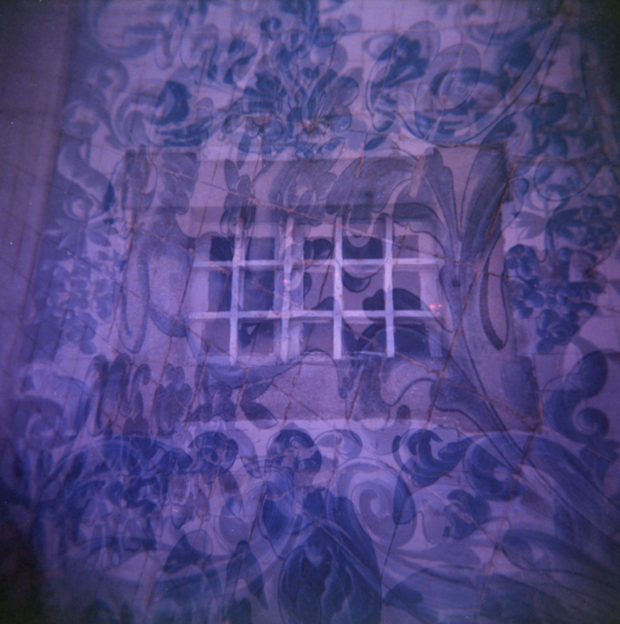 Igreja do Carmo — Tiles. Holga 120, Double Exposure.