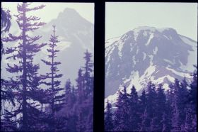 Panorama Ridge on Lomochrome Purple