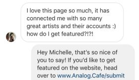 Everyone — How to Get Featured on Analog.Cafe