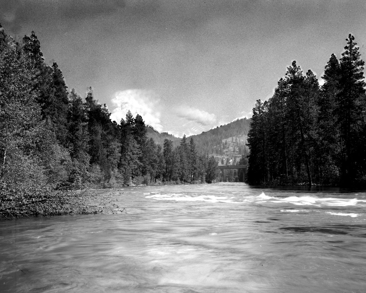 """Wenatchee River"" — shot on Arista 100 4x5 at Leavenworth Wa."